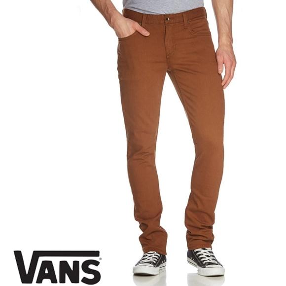 VANS V76 brown skinny jeans size 34 X 34